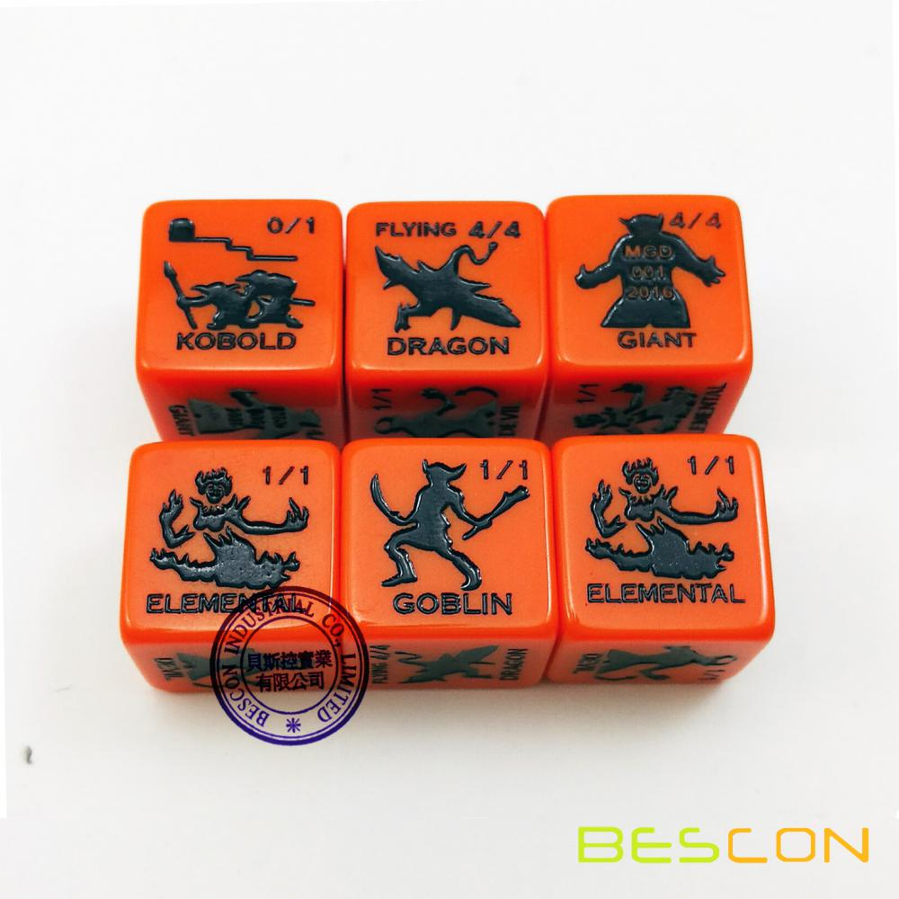 Bescon High Quality Custom Engraving Game Dice 19MM