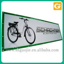 Banner de vinil de cor completa pelo Sq / Ft inclui ilhós e afiação