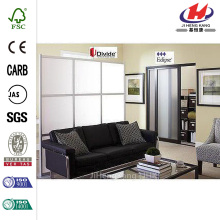 Frameless Double Tempered Leaf Frosted Actuator Glass Door