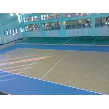 Plancher de sport en PVC intérieur / extérieur pour motif de basketball en bois
