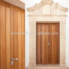 Puerta principal antigua puerta de entrada de madera de teca de mercado de diseño doble puerta de entrada