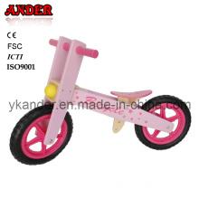 Flower Pink Lovely Wooden Balance Bike for Kids (ANB-33)