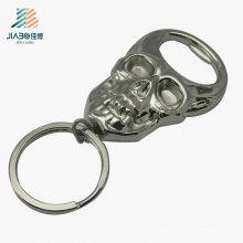Neues Design Zamak Silver Skull Logo benutzerdefinierte Flaschenöffner für Wandbehang