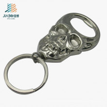 New Design Zamak Silver Skull Logo Custom Bottle Opener for Wall Hanging