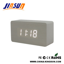 Pure Style White Color Digital Desk Led Clock