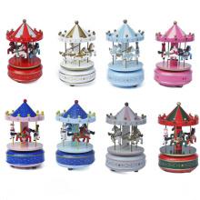 Caja de regalo de la música del carrusel del arte de la decoración de lujo de encargo de la marca de fábrica FQ