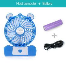 Mini ventilateur rechargeable multifonction 4 po