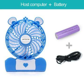 """Mini Ventilateur Portable 4 """"avec USB / Batterie / LED (USMN-DC02)"""
