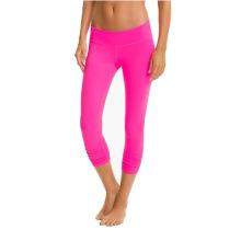 Pantalones de compresión de Nylon Spandex para mujer