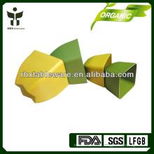 Quadratischer Pflanzenfaser-Blumentopf Biologisch abbaubarer Blumentopf