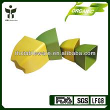 Pot de fleurs en fibre carrée en pot Pot de fleur biodégradable