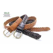 Fashion Basic geflochtene echtes Top Leder Dame Belt Lky1179