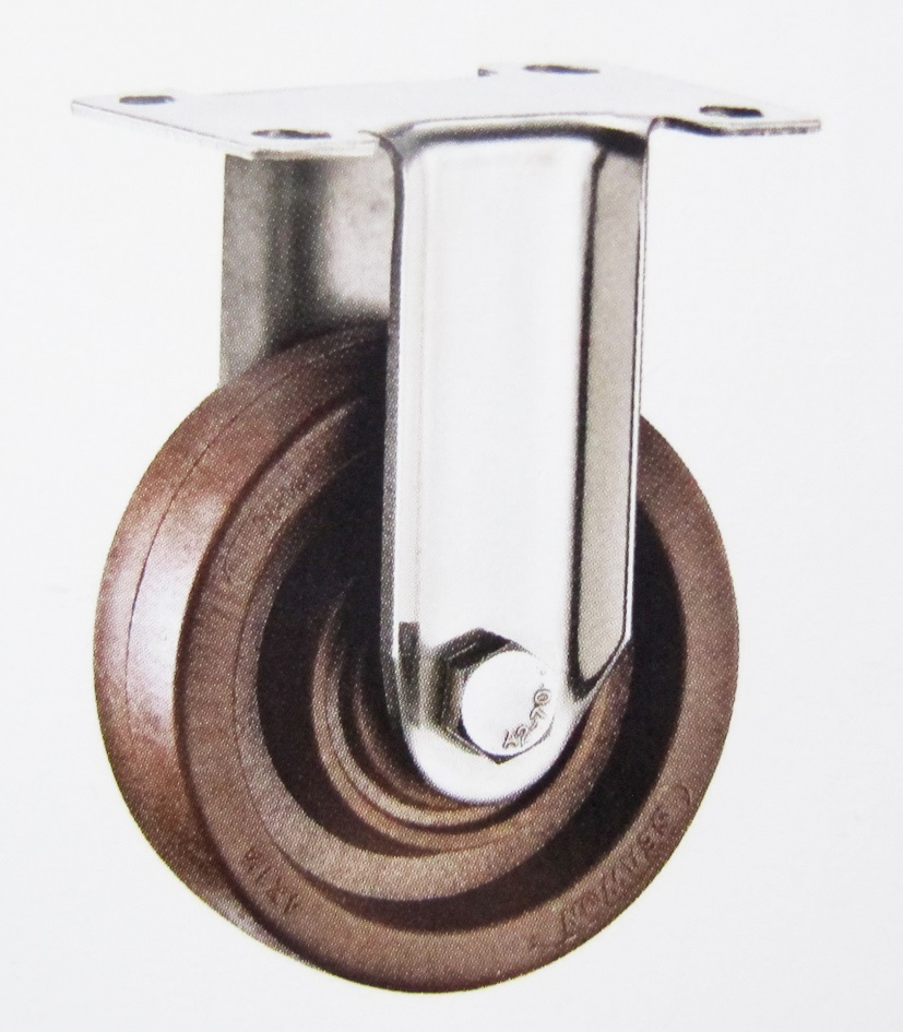280 High Termperature Fixed Caster Wheel Stainless Steel Bracket