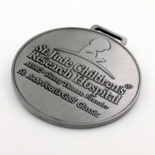 Souvenir Metal Medal With Nickel Plated
