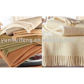 cashmere plain throw blanket