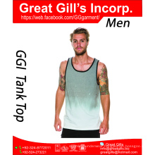 High quality men sport fit gym top/water printing dri fit tank top wholesale