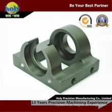 Peças fazendo à máquina de trituração do alumínio do caso 7075 do CNC do suporte