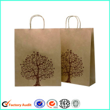 Logotipo personalizado Brown Kraft Paper Bags