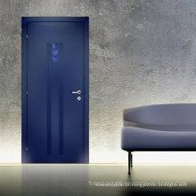 Porta de madeira contínua da porta de madeira nivelada interior moderna do estilo