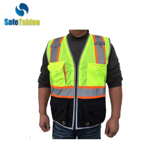 famous design his viz vest with pockets