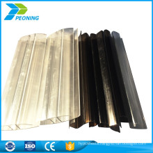 High transparent clear corrugated lexan plastic panels roofing materials for patio