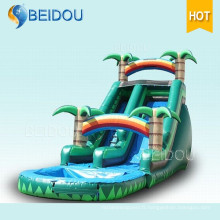 PVC Durable Giant Adult Gonflable Pool Rainbow Water Slide