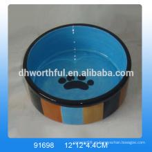 2016 nuevo estilo de cerámica pet cat bowl en super calidad