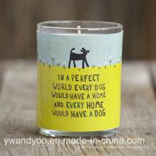 Vela perfumada decorativa casera de la soja en lata del regalo