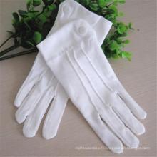 Gants de travail en coton blanc d'extérieur de haute qualité