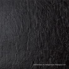 Azulejo pulido negro rústico del cuerpo completo