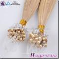 Extensions russes de cheveux d'anneau de Remy de Vierge pour des noirs