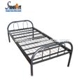Heißes verkaufendes Schlafsaalmetalleinzelbett mit Set des Satzes 2 für Arbeitskräfte
