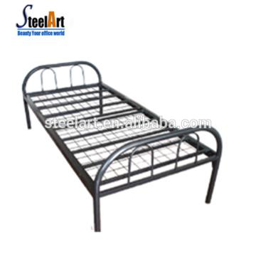 Vente chaude dortoir en métal lit simple avec 2 ensemble de paquet pour les travailleurs