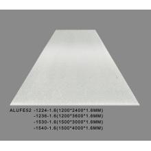 Chapa de alumínio prateada metálica 1,6 mm