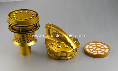 Golden multi-cyclonic filter vacuum cleaner
