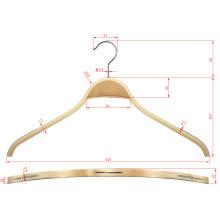 Cabide de exposição de madeira laminado bendable Zara estilo