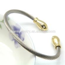 2016 Nueva joyería de moda de alta calidad personalizada pulsera de acero inoxidable brazalete GSL004