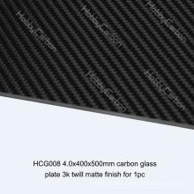 La coupe de commande numérique par ordinateur offre la plaque de pied en verre de fibre de carbone composée élevée