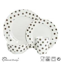 Ensemble de dîner en porcelaine design classique 16PCS avec DOT