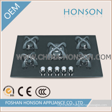 New Models 5 Burners Tempered Glass Gas Hob