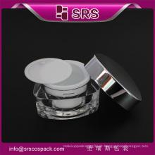Luxuoso 30g 50g frasco cosmético bonito, frasco vazio do acrílico do triângulo