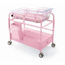 Deluxe Stahl-Plastik Krankenhaus Säuglingsbett mit Rädern