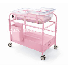 Deluxe Steel-Plastic Hospital Infant Bed with Wheels