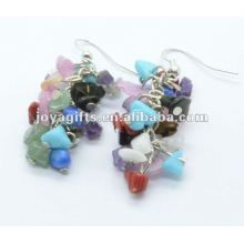 Round Shape Assorted Gemstone Earring