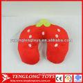 New design fruit style stuffed neck pillow Strawberry neck pillow