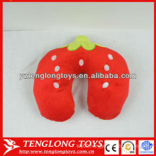 New design fruit style stuffed neck pillow Strawberry neck pillow