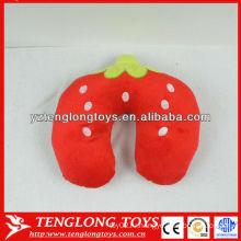 Новый дизайн фруктов стиль начинкой шею подушку Клубника шею подушку