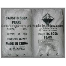 Venta caliente 99%, 96%, 98% Soda cáustica (copos, perlas, sólidos) Soda cáustica