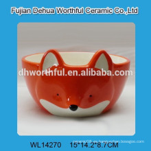 Venta al por mayor zorro de cerámica pet bowl