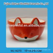 Wholesale ceramic fox shape pet bowl